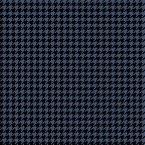 Quarter Inch Blue Jeans Blue and Black Houndstooth Check