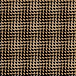 Quarter Inch Camel Brown and Black Houndstooth Check