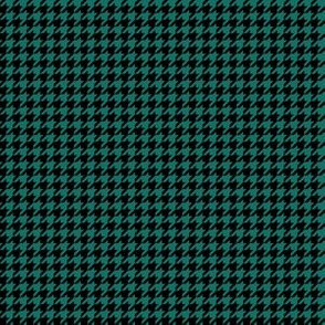 Quarter Inch Cyan Turquoise Blue and Black Houndstooth Check