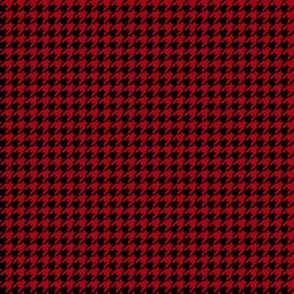 Quarter Inch Dark Red and Black Houndstooth Check