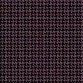 Quarter Inch Eggplant Purple and Black Houndstooth Check