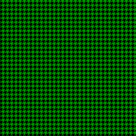 Quarter Inch Christmas Green and Black Houndstooth Check fabric by mtothefifthpower on Spoonflower - custom fabric