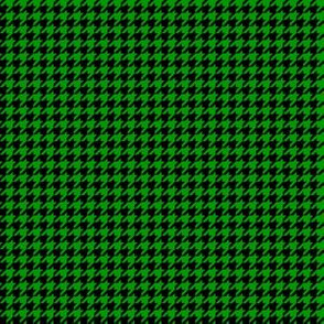 Quarter Inch Christmas Green and Black Houndstooth Check