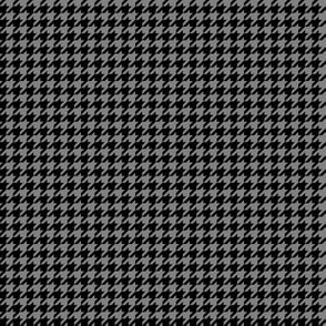 Quarter Inch Medium Gray and Black Houndstooth Check