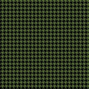 Quarter Inch Olive Green and Black Houndstooth Check