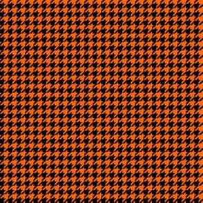 Quarter Inch Orange and Black Houndstooth Check