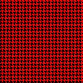 Quarter Inch Red and Black Houndstooth Check