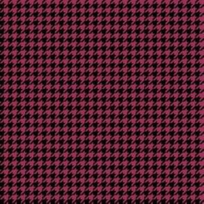 Quarter Inch Sangria Pink and Black Houndstooth Check