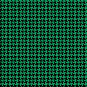 Quarter Inch Shamrock Green and Black Houndstooth Check