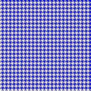 Quarter Inch Blue and White Houndstooth Check