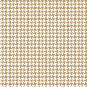 Quarter Inch Camel Brown and White Houndstooth Check