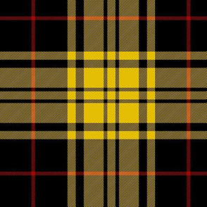 "Harmer tartan, 6"" yellow/black"