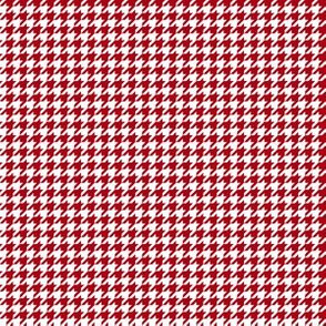 Quarter Inch Dark Red and White Houndstooth Check