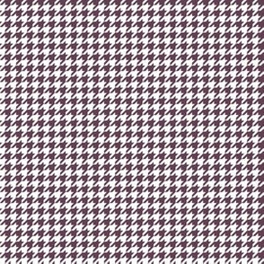 Quarter Inch Eggplant Purple and White Houndstooth Check