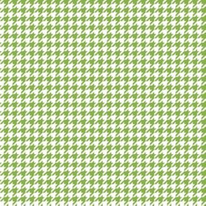 Quarter Inch Greenery Green and White Houndstooth Check