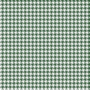 Quarter Inch Hunter Green and White Houndstooth Check