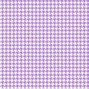 Quarter Inch Lavender Purple and White Houndstooth Check