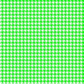 Quarter Inch Lime Green and White Houndstooth Check
