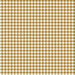 Quarter Inch Matte Antique Gold and White Houndstooth Check