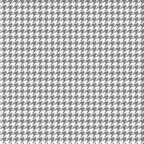 Quarter Inch Medium Gray and White Houndstooth Check