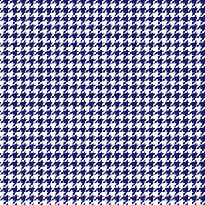 Quarter Inch Midnight Blue and White Houndstooth Check