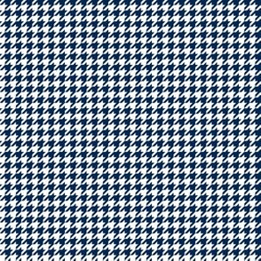 Quarter Inch Navy Blue and White Houndstooth Check