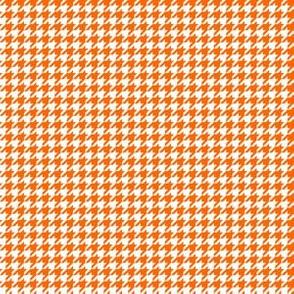 Quarter Inch Orange and White Houndstooth Check