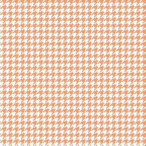 Quarter Inch Peach and White Houndstooth Check