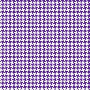 Quarter Inch Purple and White Houndstooth Check