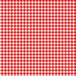 Quarter Inch Red and White Houndstooth Check
