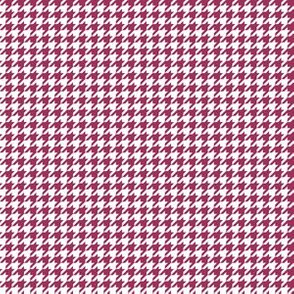 Quarter Inch Sangria Pink and White Houndstooth Check
