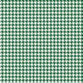 Quarter Inch Spruce Green and White Houndstooth Check