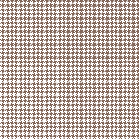 Quarter Inch Taupe Brown and White Houndstooth Check fabric by mtothefifthpower on Spoonflower - custom fabric