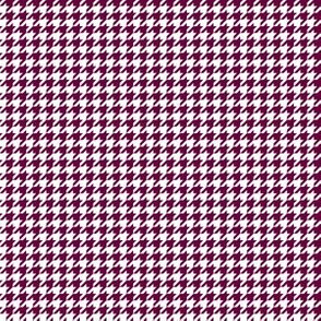 Quarter Inch Tyrian Purple and White Houndstooth Check