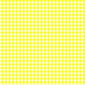 Quarter Inch Yellow and White Houndstooth Check