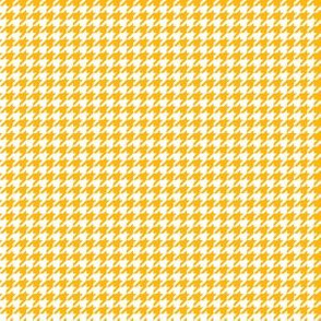 Quarter Inch Yellow Gold and White Houndstooth Check