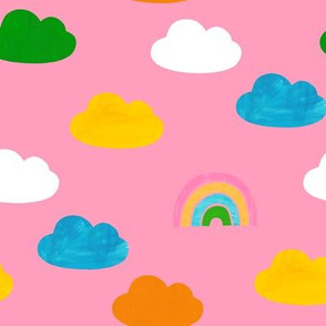 Cloudy Rainbows Pink