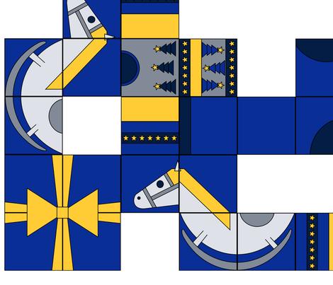 Winter Block Kaleidoscope fabric by coppercatkin on Spoonflower - custom fabric