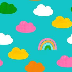 Cloudy Rainbows Blue