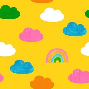 Cloudy Rainbows Yellow