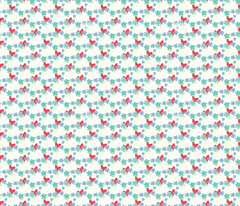 Flower Trellis fabric by julie_nutting on Spoonflower - custom fabric