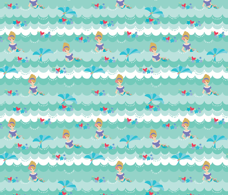 waves-01 fabric by julie_nutting on Spoonflower - custom fabric