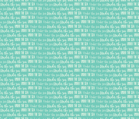 Under the Sea fabric by julie_nutting on Spoonflower - custom fabric