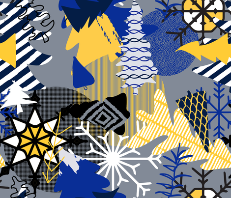 winter_mod fabric by ixpule on Spoonflower - custom fabric