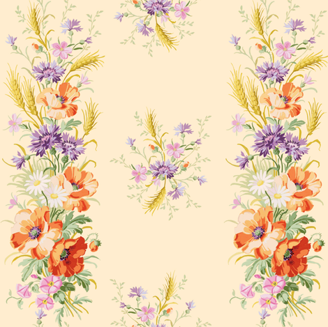 Eva Stripe pale citrus fabric by lilyoake on Spoonflower - custom fabric