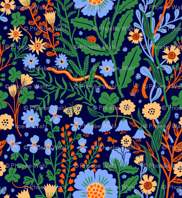 Flora blue, small