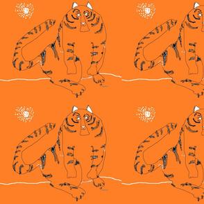 Tiger Cat  by Finley Design Art