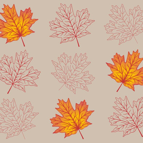 Deconstructed Maple Leaves