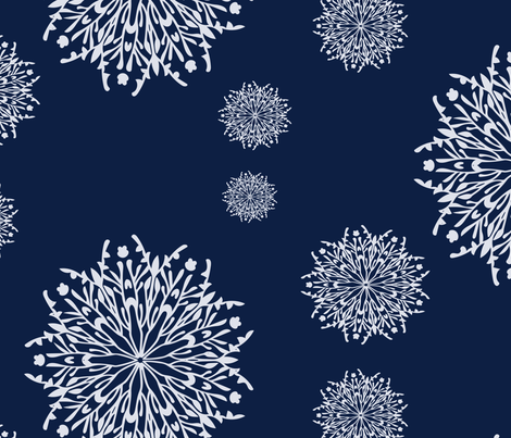 Snowflake Pattern fabric by 2329_design on Spoonflower - custom fabric