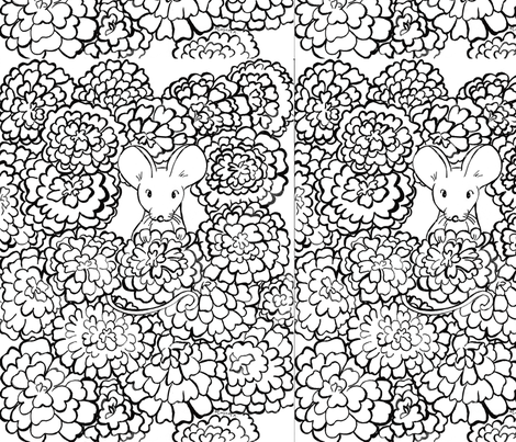 MayBelle_MorganK_Lake_Coloring fabric by maybellemousepaperco on Spoonflower - custom fabric